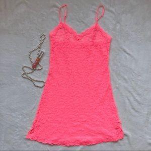 Dresses & Skirts - ✨BUNDLE ITEM✨ pink sheer lace lingerie slip dress
